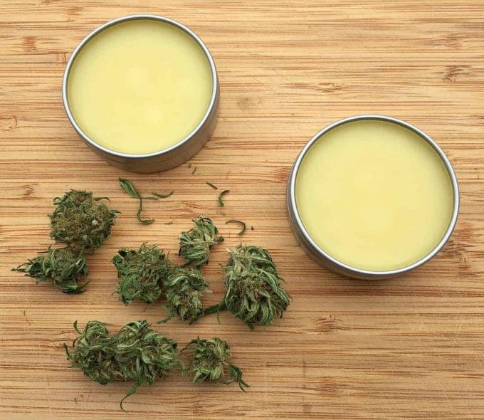 tins of homemade cbd salve